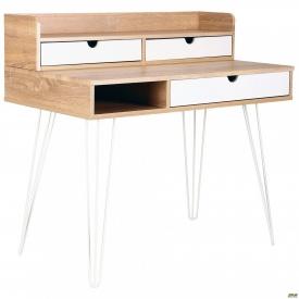 Комп'ютерний стіл Franko білий/горіх світлий+білий