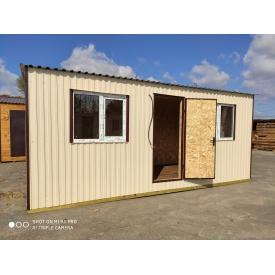 Бытовка 6-2.4 офис деревянный каркас