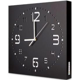 Настенные часы ручной работы Kauza черные (kau_0001)