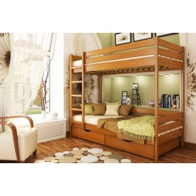 Ліжко дерев`яне 2х-поверхове Дует ТМ Естелла