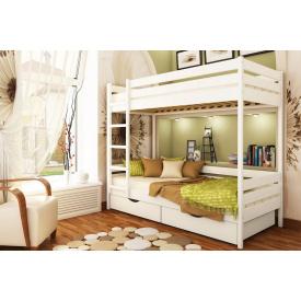 Ліжко дерев`яне 2х-поверхове Дует 80х190 см