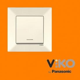 Выключатель с подсветкой VIKO Meridian Крем