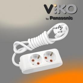 Удлинитель на 2 гнезда с заземлением 3 м Multi-let VIKO