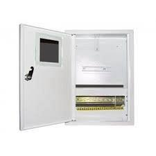 Шкаф монтажный распределительный наружной установки с замком под 1Ф счетчик Лоза ШМР-1Ф-12Н
