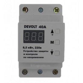 Цифровое реле напряжения DEVOLT 40А с тепловой защитой и усиленным клемником