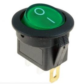 Переключатель клавиатуры КП-16 3 контакта 2 положения с фиксацией без подсветки 220В зеленый