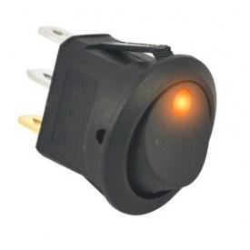 Переключатель клавиатуры КП-18 3 контакта 2 положения с фиксацией и подсветкой 220В желтый