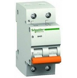 Автоматичний вимикач Schneider Electric ВА63 1P + N 20А С