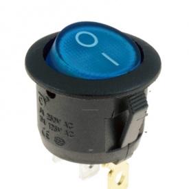 Перемикач клавіатури КП-20 3 контакти 2 положення з фіксацією без підсвічування 220В синій