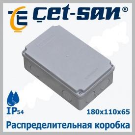 Розподільна коробка 180х110Х65 Get-san IP54 5 шт