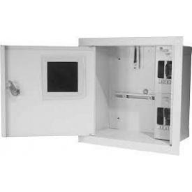 Шкаф монтажный распределительный внутренней установки с замком под 1Ф счетчик Лоза ШМР-1Ф-4В