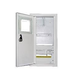 Шкаф монтажный распределительный наружной установки с замком под 1Ф счетчик Лоза ШМР-1Ф-8Н