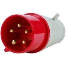 Вилка переносная 015 16А 240-415 В 5 контактов 3P+N+E красный