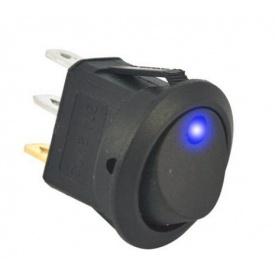 Перемикач клавіатури КП-18 3 контакти 2 положення з фіксацією і підсвічуванням 220В синій