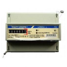 Электросчетчик трехфазный однотарифный ЦЭ 6804-U/1 220В 10-100А 3ф 4пр МР31 Энергомера