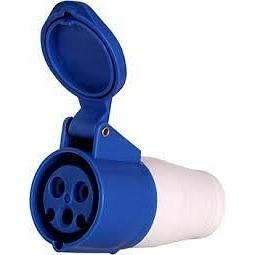 Розетка переносна 223 32А 220-250 3 контакти 2P+E IP44 синій