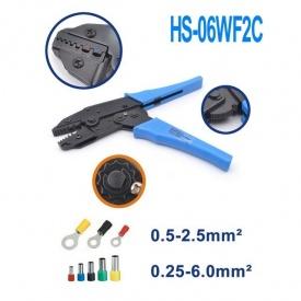 Клещи для обжима наконечников HS-06WF2C 0,5-2,5 мм2