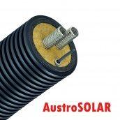 Двойная изолированная гофрированная труба AUSTROSOLAR MCD 32 мм с кабелем наружный кожух 200 мм