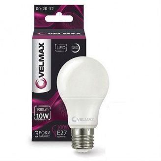 Лампа LED Velmax V-A60 10W E27 3000K 1000Lm кут 240