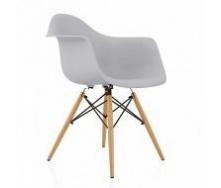 Крісло Тауер Вуд ніжки дерев'яні бук пластик колір сірий