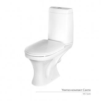 Унитаз-компакт Керамин Санти с жестким сиденьем