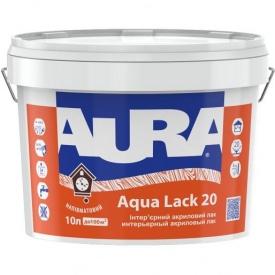 Акриловый водоразбавимый лак Aura Aqua Lack 20 полуматовый 1 л