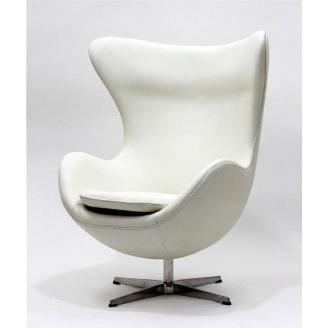 Дизайнерское кресло SDM Эгг-Яйцо 1130х830х780 металл экокожа цвет белый
