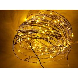 Світлодіодна гірлянда-нитка Ecolend 10 метрів 12 вольт жовта IP44 для вулиці під навісом (Н1012ВЖ)