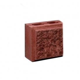 Блок Західтрансбуд Колотый камень половинка односторонний 190х90х90 мм красный
