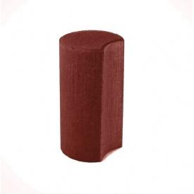 Палісад Західтрансбуд Півмісяць 110х110х300 мм червоний