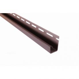 Планка Соффит J коричневая Т-15 3,66 м коричневый