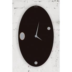 Часы настенные WallArt Ellipse черные (WA_Ell_0003)