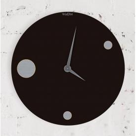 Часы настенные WallArt Moon черные (WA_Moo_0003)