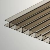 Сотовый поликарбонат POLYGAL 6 мм бронзовый