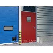 Двері протипожежні DoorHan EI60 одностулкові глухі 980х2050 мм гладкі