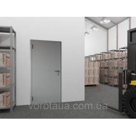 Двері технічні DoorHan одностулкові глухі гладкі 780х2050 мм