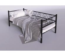 Металева ліжко-диван Амарант Тенеро 900х2000 мм чорний