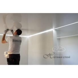 Натяжной потолок глянцевый 0,17 мм серый