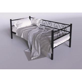 Металлическая кровать-диван Амарант Тенеро 900х2000 мм черный