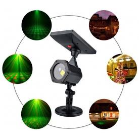 Вуличний світлодіодний проектор Ecolend на сонячній батареї крапсный і зелений IP65 (УП301)