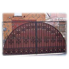 Ковані ворота з елементами ковки Код В-0135 ДЕШЕВА КОВКА