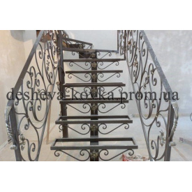 Ковані сходи під замовлення Код С-0118 ДЕШЕВА КОВКА