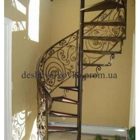 Ковані гвинтові сходи в будинок Код: Д-0108