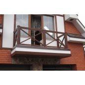 Оздоблення балкона сталева труба 40х40х3 мм 950х1000 мм