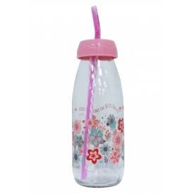 Бутылка для сока и воды Sarina с трубочкой 500 мл (S-764-1)