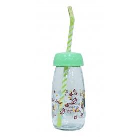 Бутылка для сока и воды Sarina с трубочкой 250 мл (S-770-4)