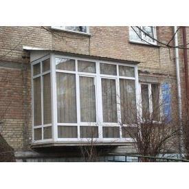 Французский Балкон 3-камерний профиль WDS Classic 3240x2230 мм