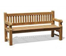 Лавка зі спинкою 1800 х 690 мм Garden park bench 02