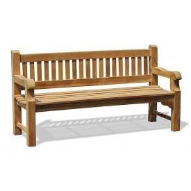 Лавочка со спинкой 1800 х 690 мм Garden park bench 02