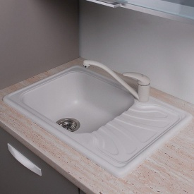 Кухонная мойка Fancy Marble Filadelfia 103060001 белый